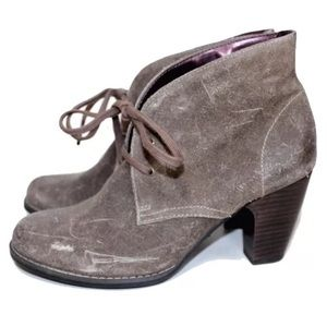INDIGO BY CLARKS Brushed Suede Lace Up Booties